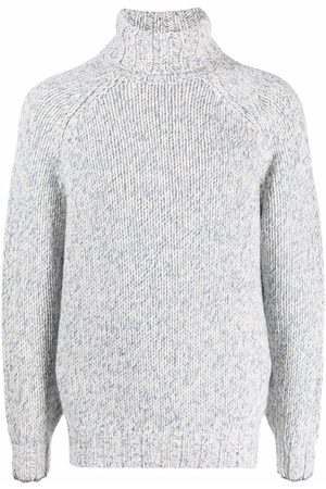 Brunello Cucinelli Homem Camisolas - Intarsia-knit roll-neck jumper