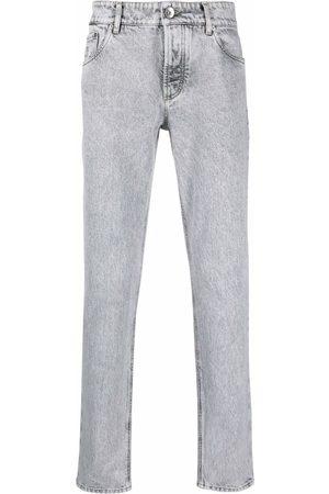Brunello Cucinelli Homem Calças Justas - Stonewashed slim-fit trousers
