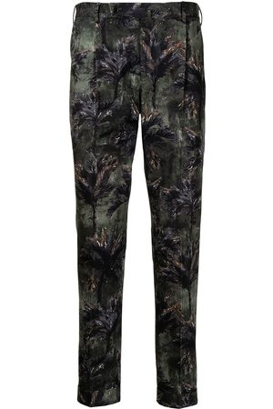 PT01 Tropical Forest print trousers