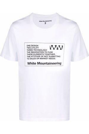 White Mountaineering Graphic-print cotton T-shirt