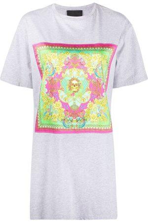 Philipp Plein Baroque print T-shirt dress