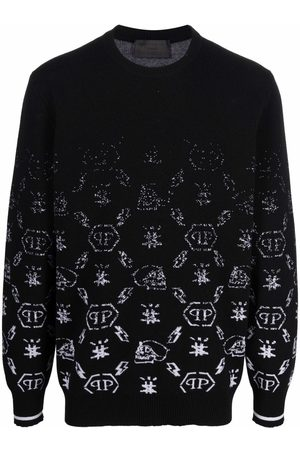 Philipp Plein Monogram jacquard wool jumper