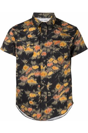 Saint Laurent Floral-print short-sleeve shirt