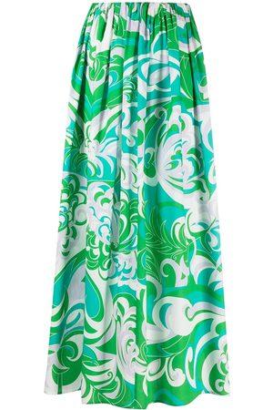 Emilio Pucci Albizia-print beach skirt