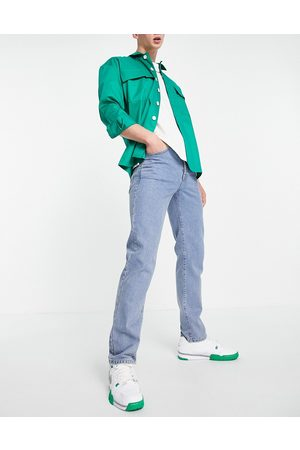 Topman Homem Retos - Straight jeans in mid wash-Blue