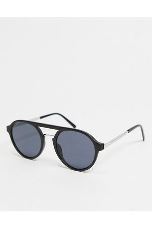 River Island Aviator sunglasses in black