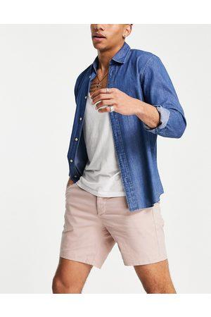 ASOS DESIGN Homem Calções - Slim chino shorts in light pink