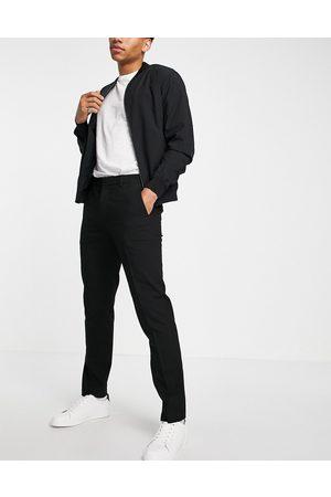 River Island Homem Calças Justas - Slim smart trouser in black