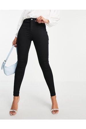Miss Selfridge Steffi super high waist skinny jean with belt loops in black