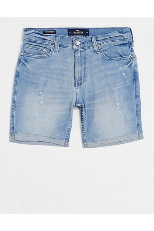 Hollister Clean denim shorts in light wash-Blue