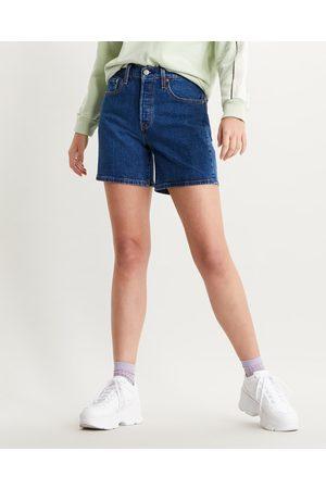 Levi's Senhora Calções - 501® Mid Thigh Shorts Blue