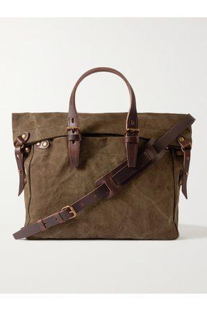 BLEU DE CHAUFFE Homem Sacos Viagem & Fim-de-semana - Leather-Trimmed Cotton-Canvas Messenger Bag