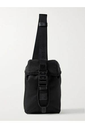 Givenchy Homem Bolsas & Carteiras - Mini Leather-Trimmed Nylon Sling Backpack