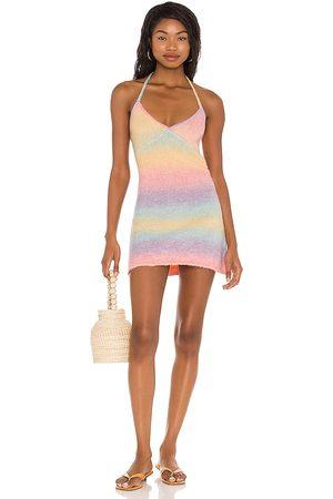 Frankies Bikinis Debbie Knit Dress in - Pink. Size L (also in XS, S, M).