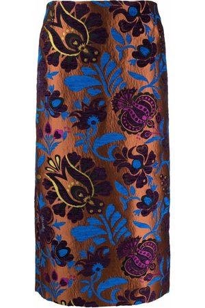 La DoubleJ Senhora Saias Estampadas - Patterned-jacquard pencil skirt