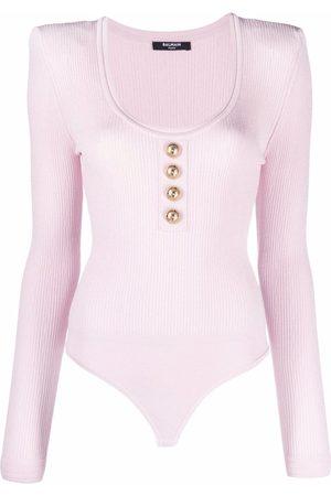 Balmain Scoop neck knitted bodysuit