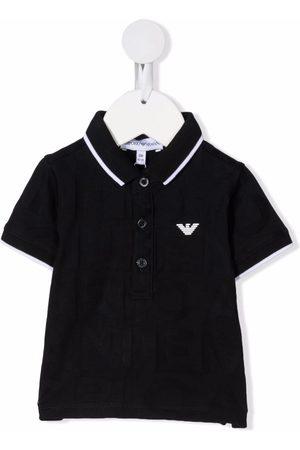 Emporio Armani Menino Manga curta - Logo-patch short-sleeved polo shirt