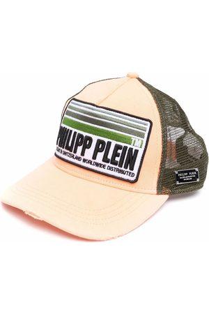 Philipp Plein Logo-patch cotton trucker hat