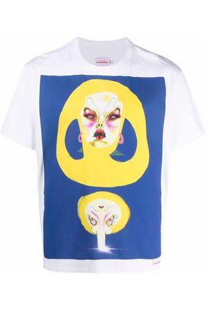 Charles Jeffrey Loverboy Homem T-shirts & Manga Curta - Artwork cotton T-shirt