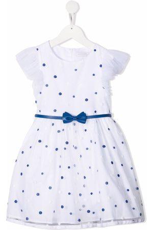 MONNALISA Polka-dot tulle dress