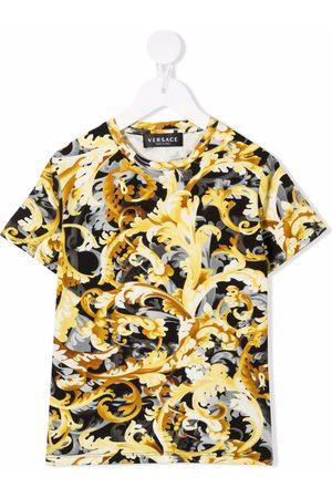 VERSACE Menino T-shirts & Manga Curta - Baroque print short-sleeve T-shirt