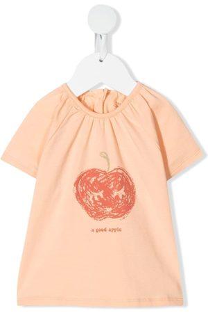 KNOT Apple-print stretch-organic cotton T-shirt