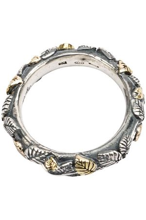 UGO CACCIATORI Leaf engraved ring