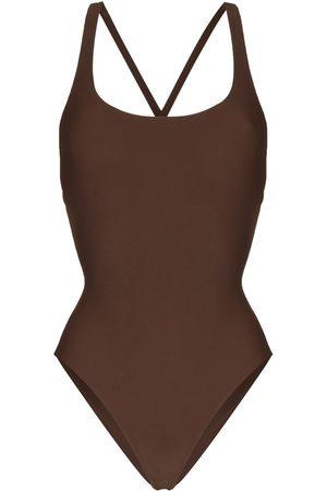 JADE SWIMWEAR Asterisk criss-cross straps swimsuit