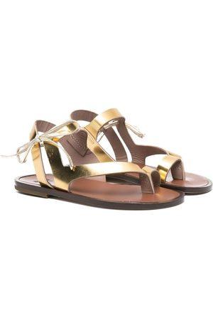 PèPè Metallic-effect leather sandals