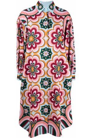 La DoubleJ Mulher Vestidos Casual - Floral shift shirt dress