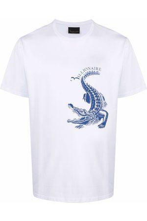 BILLIONAIRE Homem T-shirts & Manga Curta - Crocodile-print short-sleeve T-shirt