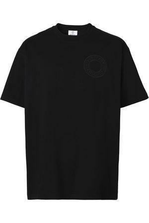 Burberry Homem T-shirts & Manga Curta - Embossed logo-detail T-shirt