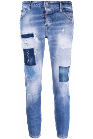 Dsquared2 Distressed patchwork cropped jeans