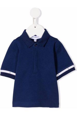 Emporio Armani Menino Manga curta - Stripe-detail short-sleeved polo shirt