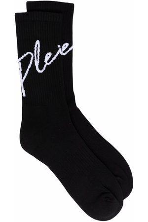 Philipp Plein Meias - Signature-print socks