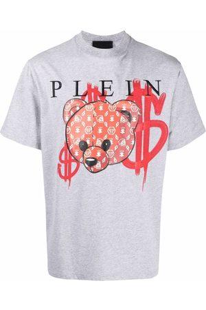 Philipp Plein Homem T-shirts & Manga Curta - Teddy Bear cotton T-shirt