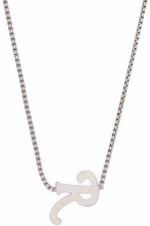 RAF SIMONS Homem Colares - R letter pendant necklace