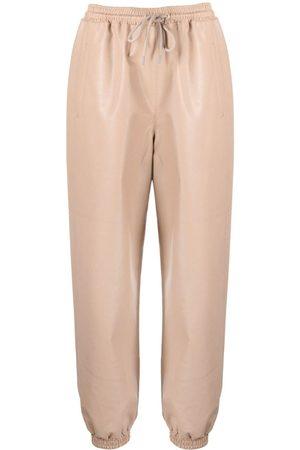 Stella McCartney Senhora Calças em Pele - Kira faux leather trousers