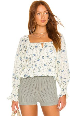 FAITHFULL THE BRAND Gillian Top in - White. Size L (also in XS, S, M).