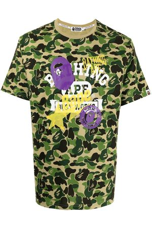 A BATHING APE® Graphic-print camouflage T-shirt