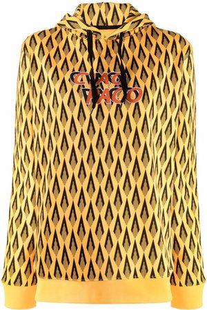 Paco rabanne Geometric-print cotton hoodie
