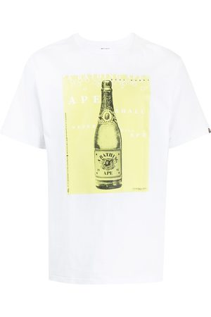 A Bathing Ape Homem T-shirts & Manga Curta - Graphic-print T-shirt
