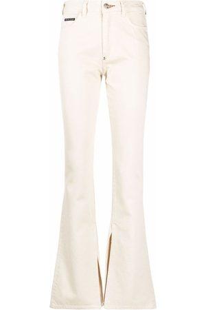 Philipp Plein Senhora Bootcut & Boca-de-sino - High-waisted flared jeans