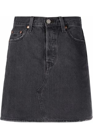 Levi's Senhora Saias de Ganga - High-waist deconstructed denim skirt