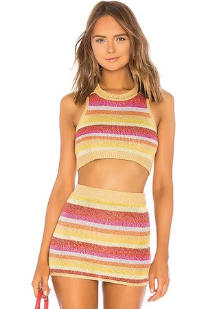 Lovers + Friends Sunset Crop Sweater in - Yellow. Size L (also in XS, S, M).