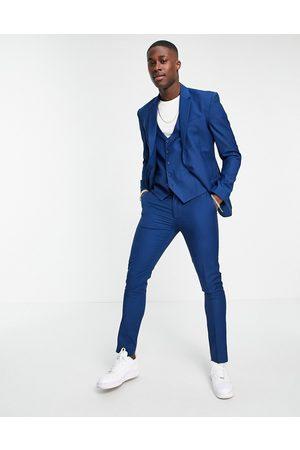 New Look Homem Calças - Skinny suit trouser in bright blue