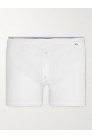 Schiesser Homem Boxers - Friedrich Ribbed Cotton-Jersey Boxer Briefs
