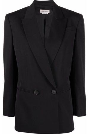 Alexander McQueen Senhora Blazers - Double-breasted tailored blazer