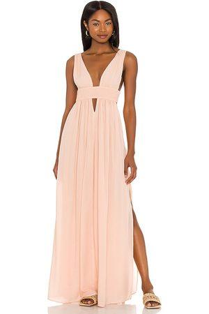 Indah Anjeli Maxi Dress in - Blush. Size L (also in S, XS, M).