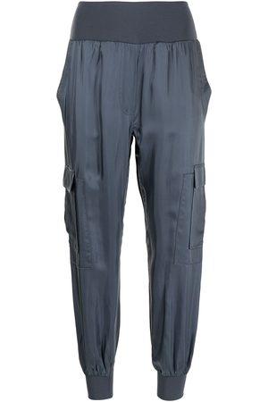 Cinq A Sept Senhora Calças Cargo - Tapered cargo cotton trousers